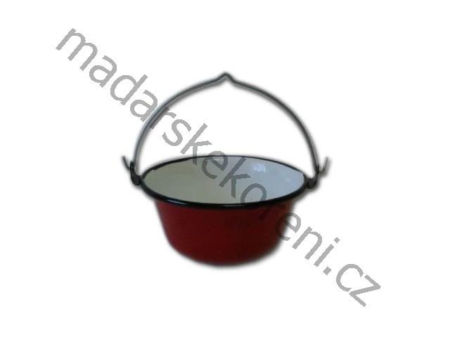 Servírovací kotlík 0,8 l se stojánkem Tálalóbogrács - Piros-zománcos